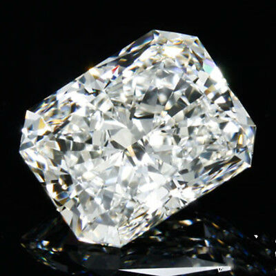 Good 3.36 ct 9.25 x 8.85 mm SI1 J-K Radiant Cut Loose Moissanite GBP