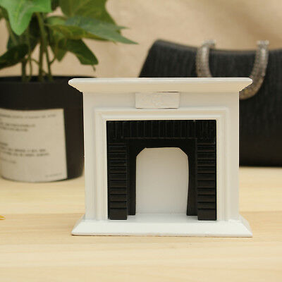 White 1/12 Miniature Fireplace Dollhouse Furniture Accessories Home Decor Gift