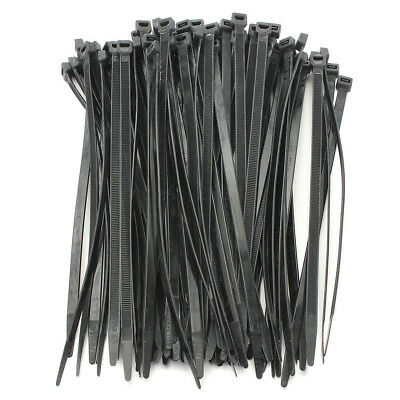 SS 100PCS Strong Cable Ties / Tie Wraps Zip Ties Color:Black Size:5*200mm