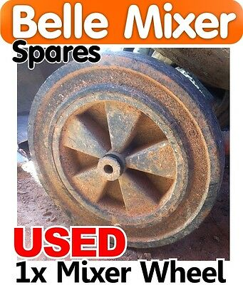 USED Belle Concrete Mixer Wheel 140 150 Spares Parts Minimix Wheels Cement