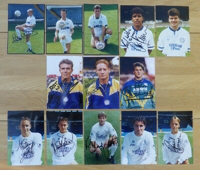 1980s and 1990s Leeds United Signed Official Club Photos inc. Rare Names