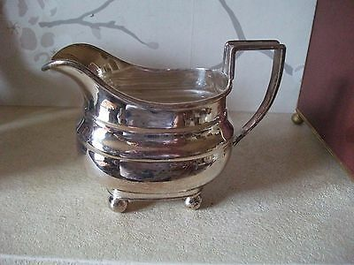 Antique Goldsmiths And Silversmith Georgian Style Silver Plated Cream Jug