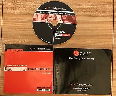 LG VX8300 QUICK REFERENCE GUIDE - VERIZON WIRELESS 2 BOOKLETS, 1 CD *Ships FREE