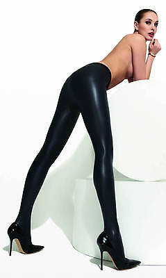 Trasparenze Allen Faux Leather Tights. Black. 93% Polyester 7% Elastane. 1 Pair.