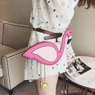 WOMAN Flamingo Shape Purse Satchel Crossbody Shoulder Bag Messenger Handbag