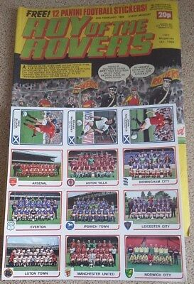 Roy of the Rovers 25th February 1984 + 12 Free Panini Stickers