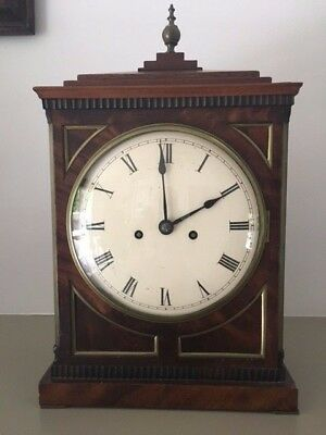 Regency Period Mahogany & Brass Twin Fusee Bracket Clock