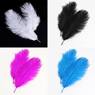 Fashion Wedding white OSTRICH FEATHERS 10-12inch / 25-30cm Many Colors