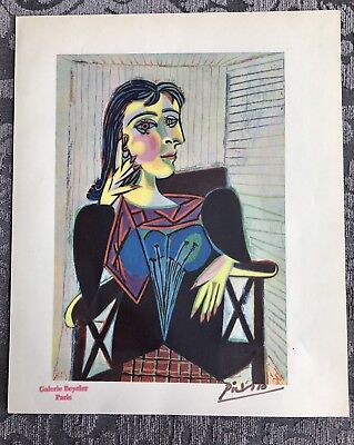 Picasso old vintage Lithograph Litho art 1946 hand signed print Paris gallery Sp