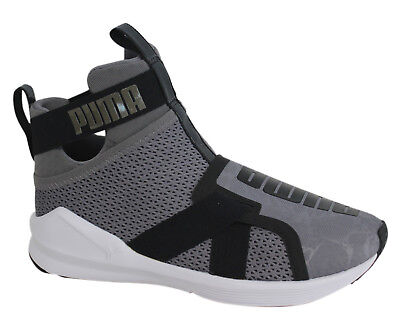 Puma Fierce Strap Slip On Grey Womens Gym Running Fitness Trainers 189463 01  P5E e0e7076ed