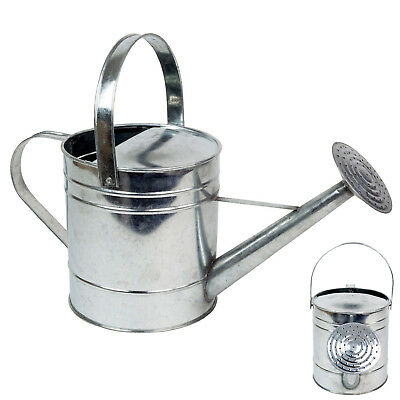 Galvanised Watering Can: 5L (Metal Retro Plant Garden Grass Hydrated Accessory)