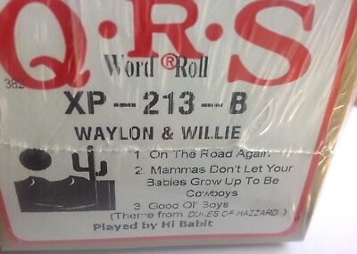 WAyLON & WILLIE 3 Selections BRAND NEW  LONG  PLAY  PIANOLA   ROLL