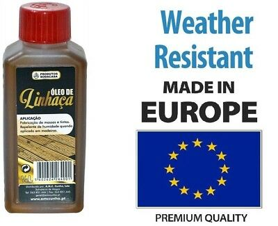 Quality Linseed Oil Traditional Wood Treatment Indoor & Outdoor 1/4L