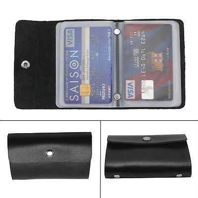 New Men Soft Black Leather Credit Card Note Holder Wallet Purse ID Sheep Nappa