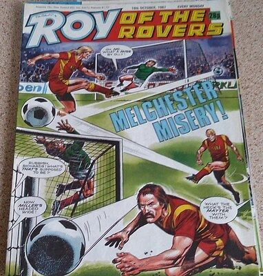 Roy of the Rovers 10th October 1987 Combined Postage Offered For Multiple Buys