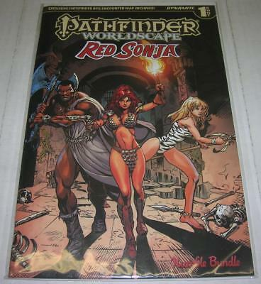 RED SONJA PATHFINDER WORLDSCAPE DF HUMBLE BUNDLE VARIANT w/COA (2017) (VF) RARE
