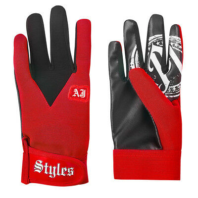 Wwe Tna official red replica aj styles replica gloves adult kids wrestling