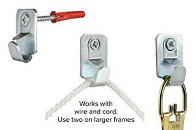 Picture Hooks Heavy Duty Safety with screws and rawplugs