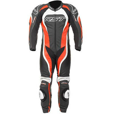 RST Motorcycle 1415 Tractech Evo II Mens Leather Suit Flo Red