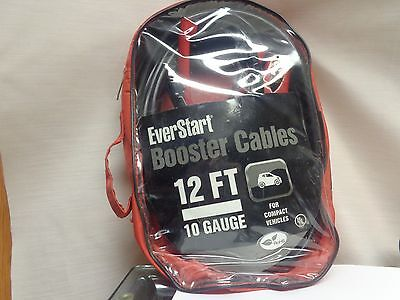Booster cables, 12 foot, 10 gauge,