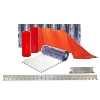 Strip Door Curtain Kit PVC Loading Dock Warehouse Deters Dust Birds Insect Roll