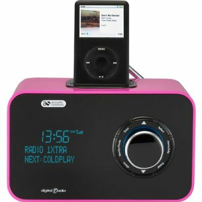 acoustic solutions dab portable digital fm radio speaker docking station picclick uk. Black Bedroom Furniture Sets. Home Design Ideas
