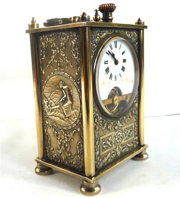 Miniature Antique French Carriage Clock By Franier