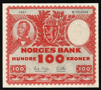100 Kroner From Norway 1961 M8