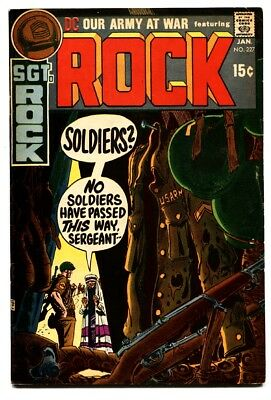 OUR ARMY AT WAR #227 1971-DC-SGT ROCK'S joe kubert -vf