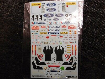 Tamiya Decals 1/24 scale Ford focus rs wrc 2001 part b