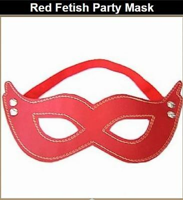 RED Studded Eye Mask Sexy Erotic Masquerade Hen Party Fancy Dress