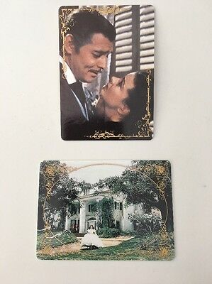 Gone With The Wind Porcelain Collector Cards-2 The Proposal & Scarlett At Tara