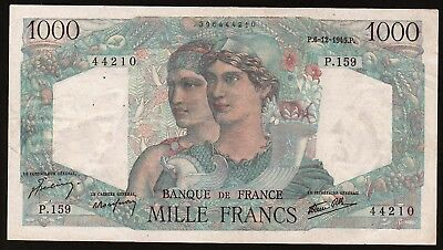 1000 Francs From France 1945 M8 XF