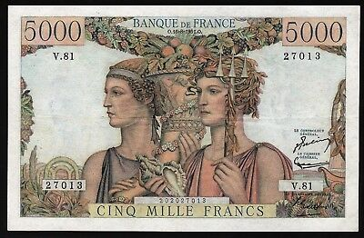 5000 Francs From France 1951 M8
