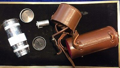 CANON Serenar f:4 100mm Lens with leather case s/n 43656 Occupied Japan