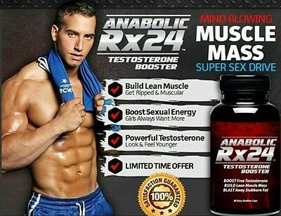 Rx 24 Anabolic* Testosterone Booster* Increase lean muscle mass.
