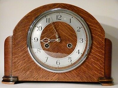 Classic Smiths/ Enfield Mantel Mantle Clock, overhauled, refurbsihed, tested