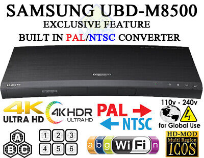 SAMSUNG M8500 All Zone Multi Region Code Free DVD Blu Ray Player 4K UHD