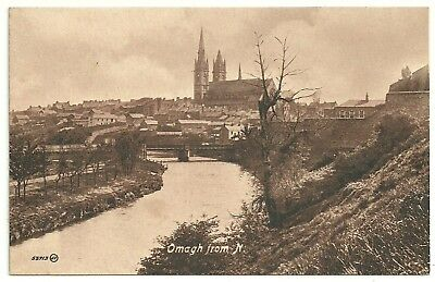 Ireland Co Tyrone  postcard Omagh from the North
