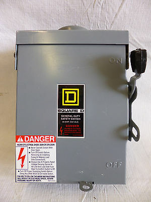 Square D D321NRB 30A 240V 3P Fusible Safety Switch Nema 3R