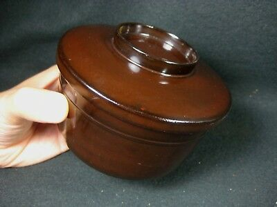 Japanese Antique Signed Brown Lacquer Lidded Bowl