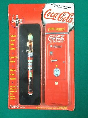 Coca Cola Collectible Ceramic Roller Ball Pen With Tin 1997
