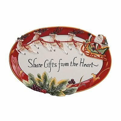 Fitz and Floyd Regal Holiday Collection Christmas Cookie Platter Share Gifts NEW