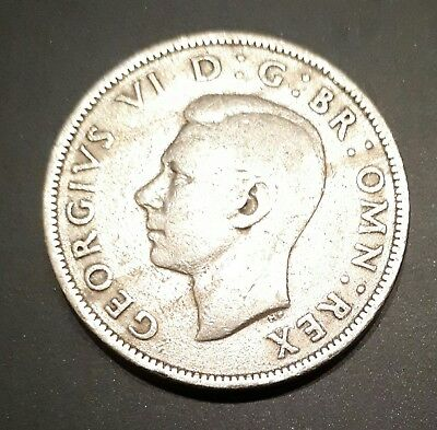 George V 1949 British Two Shilling Coin.