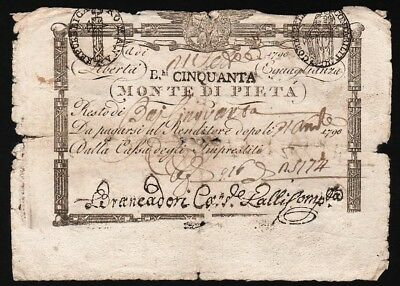 50 Baiocchi From Italy 1798 M8