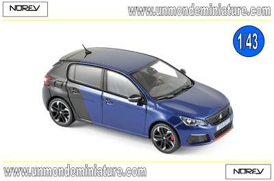 Peugeot 308 GTi Coupe Franche de 2017 Blue & Black NOREV - NO 473816 - 1/43