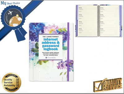 Hydrangeas Large Hardcover Logbook Password Internet Address Format Organizer