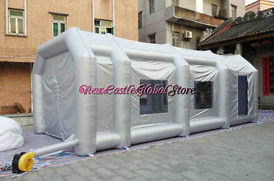 custom made 30.5ft x 15.6ft x 10.1ft portable cloth inflatable spray paint booth