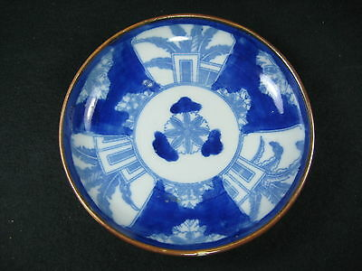 Antique 110 Year Old Japanese Imari Dish Hand Painted And Transfer Print Floral