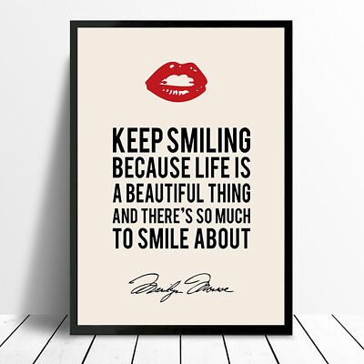 Vintage Marilyn Monroe Quote Poster Print Picture Photo A4 A3 260Gsm Glossy